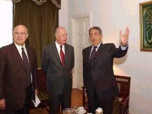 Presidente Ricardo Lagos de Chile en su visita a la Sede de  la Liga Arabe en Egipto