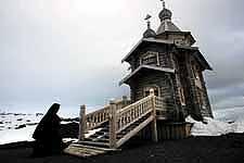 Templo ortodoxo en la Antártica