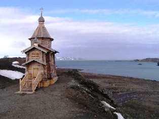 Templo Ortodoxo en la Antartica