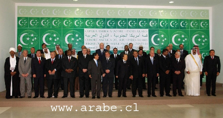Jefes de Gobierno Jefes de Estado y Representantes Paises Arabes y Paises Sudamericanos