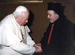 Con el Cardenal Catolico Romano Ignace Moussa I Daoud