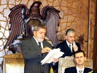 Presidente Luiz Inacio Lula da Silva de visita en Siria
